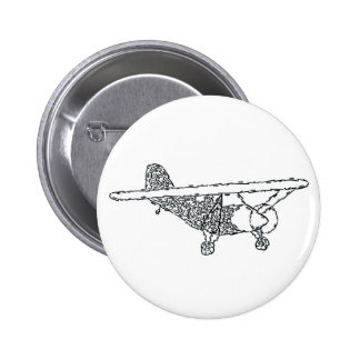 AIRPLANE PINBACK BUTTON