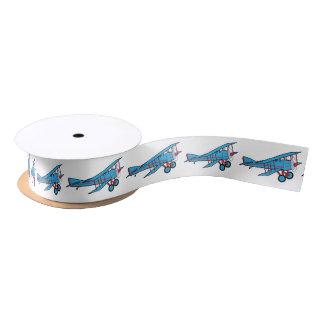 Airplane: Biplane 1.5 Inches Satin Ribbon