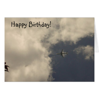 Airplane Birthday Card!