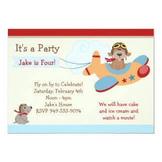"Airplane Birthday Party Invitation 5"" X 7"" Invitation Card"