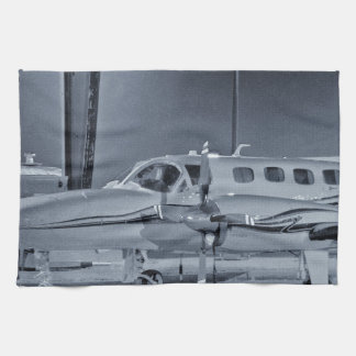 """Airplane """"black white"""" photo picture HDR T-Shirt Kitchen Towel"""