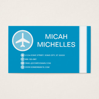 airplane bubble business card