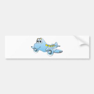 Airplane Cartoon Bumper Sticker