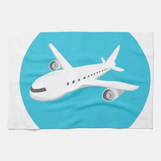 Airplane Cartoon Hand Towel