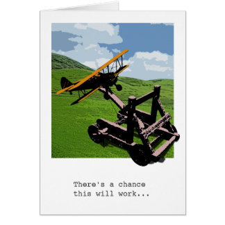 Airplane Catapult Farewell / Bon Voyage Card