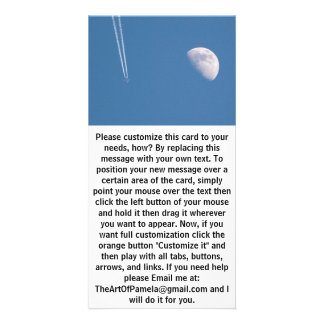 Airplane Crossing the Sky Custom Photo Card