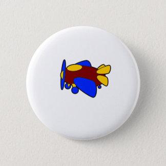 Airplane Cute Colorful Cartoon Plane 6 Cm Round Badge