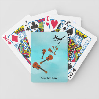 Airplane Dropping Ukuleles Bicycle Playing Cards