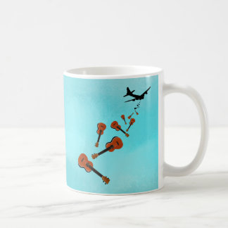 Airplane Dropping Ukuleles Coffee Mug