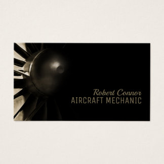 Airplane Engine Aircraft Mechanic Business Card