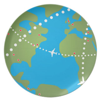 Airplane Flight Paths Plate