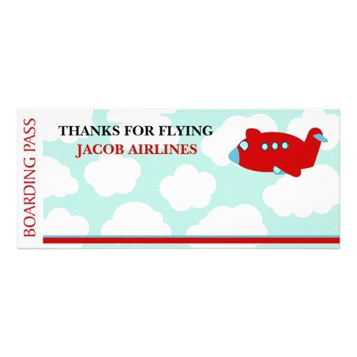 Airplane Flying birthday invitation customize