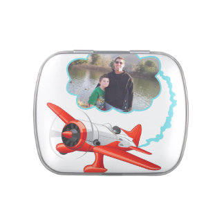 Airplane Flying High Add Your Photo Jelly Belly Candy Tins