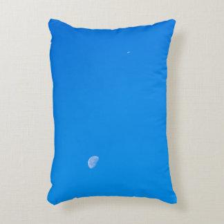 Airplane flying high on a clear sky decorative cushion