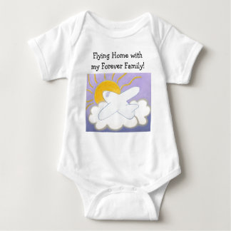 Airplane Flying Home Baby Bodysuit