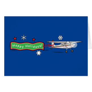 Airplane Happy Holidays Card