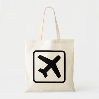 Airplane icon air travel tote bags