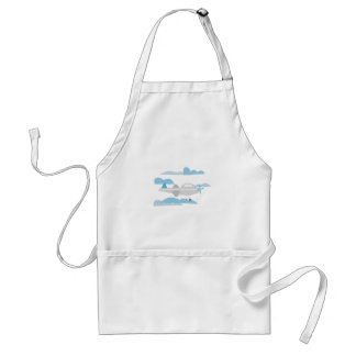 Airplane In Clouds Apron