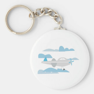 Airplane In Clouds Key Chains