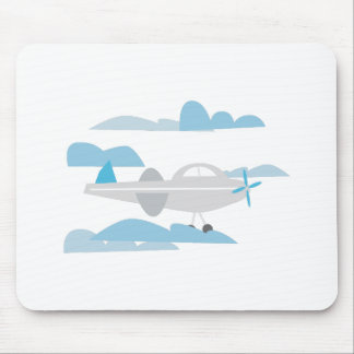 Airplane In Clouds Mouse Pads