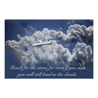 Airplane Inspirational poster