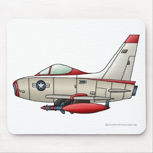Airplane Jet Fighter Military Aircraft Mouse Pad Mousepad