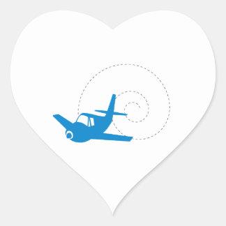 Airplane Loop Heart Sticker