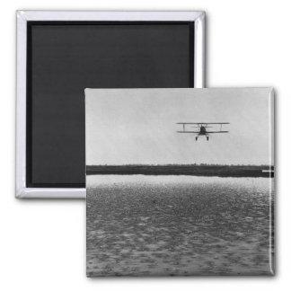 Airplane Square Magnet