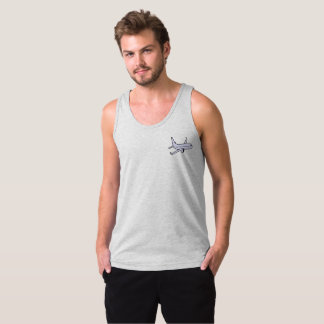 Airplane Men's Jersey Tank Top -Heather Grey