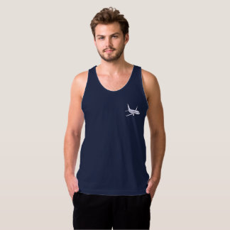 Airplane Men's Jersey Tank Top -Navy