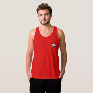 Airplane Men's Jersey Tank Top -Red