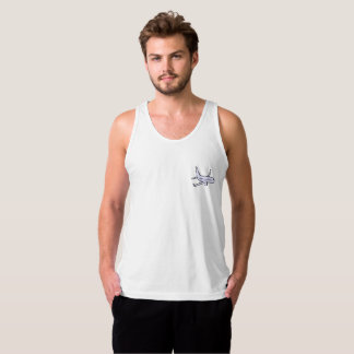 Airplane Men's Jersey Tank Top -White