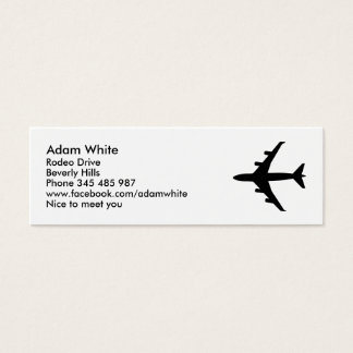 Airplane Mini Business Card