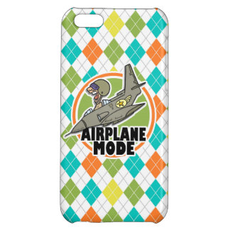 Airplane Mode; Colorful Argyle Pattern Cover For iPhone 5C