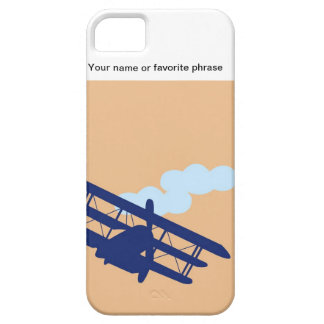 Airplane on plain orange background. iPhone 5 cases