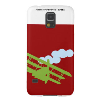 Airplane on plain red background. galaxy s5 case
