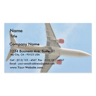 Airplane On Sky Close Up Business Card Templates