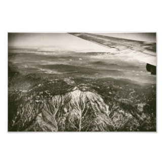 Airplane Over Snowy Mountains Aerial Shot Photo Print
