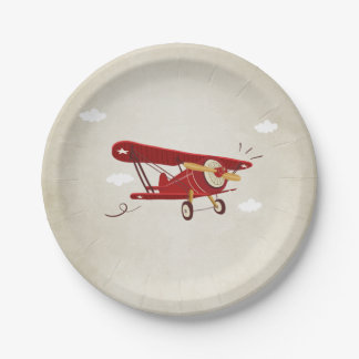 Airplane Paper Plates Travel Adventure Shower