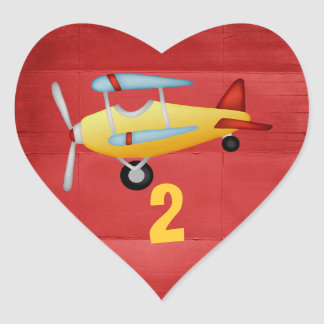 Airplane Party Heart Stickers