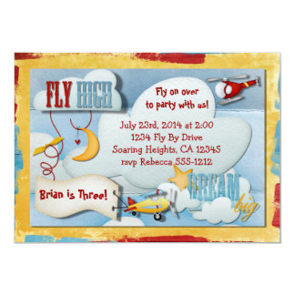 Airplane Party Invitation