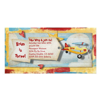 Airplane Party Invitation Picture Card