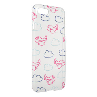 Airplane Pattern iPhone 7 Clearly™ Deflector Case