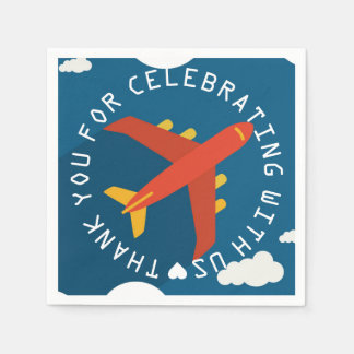 Airplane Personalized Boy Pilot's Party Shower Disposable Napkin