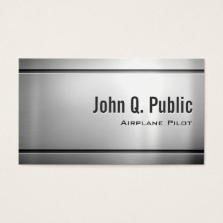 Airplane Pilot - Cool Stainless Steel Metal Business Card