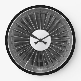 Airplane Pilot Engine Turbine Wall Clock