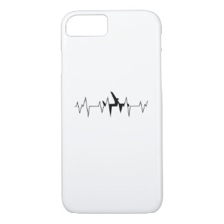 Airplane Pilot Heartbeat  Funny Flyer Flying Gift iPhone 8/7 Case