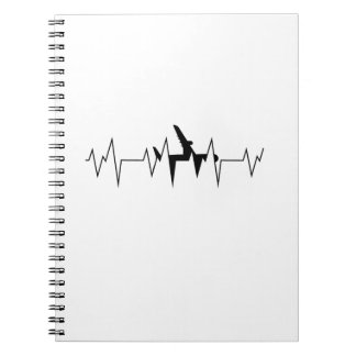 Airplane Pilot Heartbeat  Funny Flyer Flying Gift Notebook