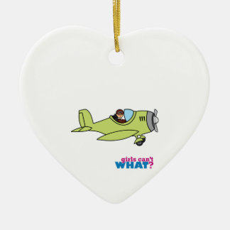 Airplane Pilot - Medium Ceramic Ornament