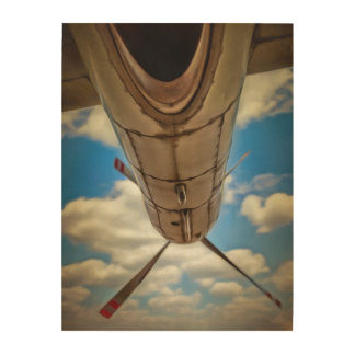 Airplane Power Wood Wall Art